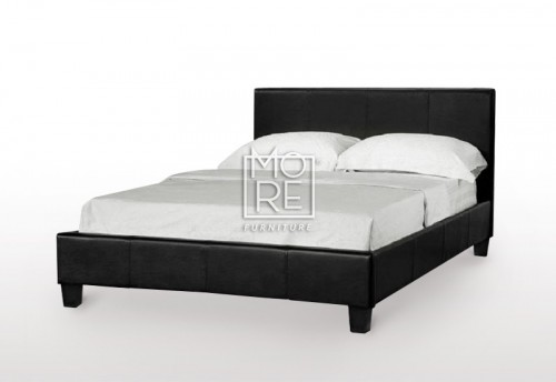 VE LBD Faux Leather Bed Frame Black
