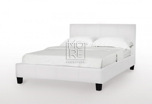EVE LBD Faux Leather Bed Frame White