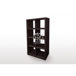 Ashton 8 Cube MDF Storage Bookcase Brown