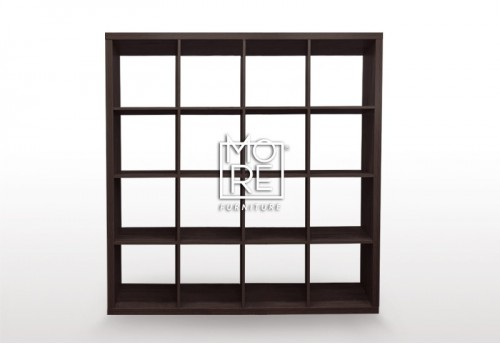 Ashton 16 Cube MDF Storage Bookcase Brown