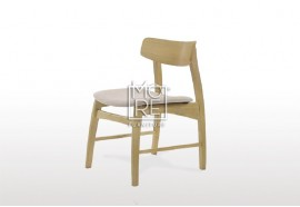 Jessie Rubber Wood Timber Fabric Dining Chair