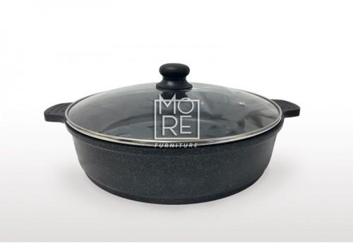 KW Marble Coating Cast Aluminum Deep Pot 32cm