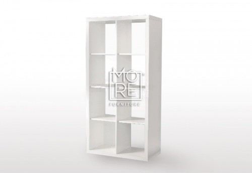 Eco White Gloss 8 Cube Bookcase