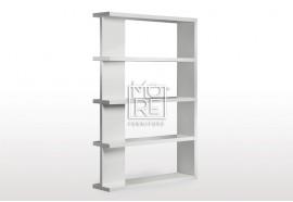 Modern Axis High Gloss Bookshelf White