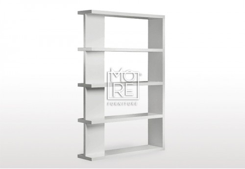 Modern Axis High Gloss Bookshelf White