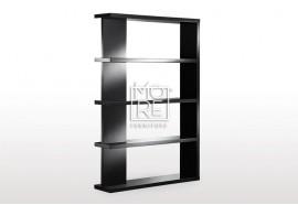 Modern Axis High Gloss Bookshelf Black