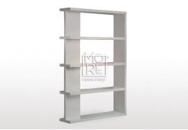 Modern Axis High Gloss Bookshelf Grey