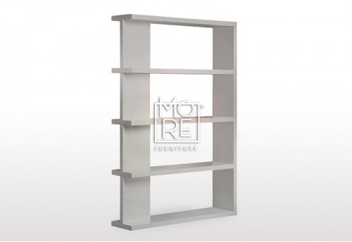 Modern Axis High Gloss Bookshelf Grey