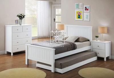 Brodie Hardwood & MDF Bed Frame (No Trundle)