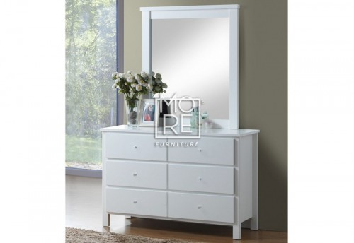 Brodie Hardwood & MDF Dresser with Mirror