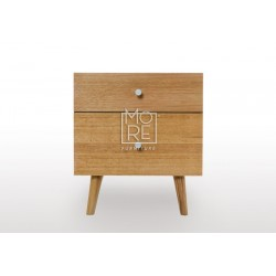 Miami Tassie Oak Solid Timber Bedside Table