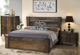 Ironbark Rubber Wood Timber Bed Frame
