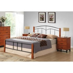 York Rubber Wood & Metal Bed Frame