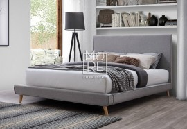 Vita Fabric Bed Frame Light Grey