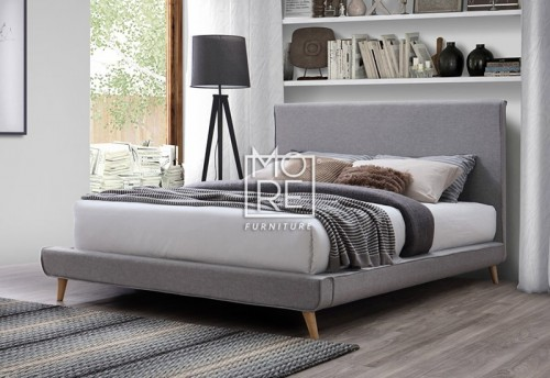 Vita Fabric Bed Frame Light Grey
