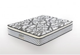 ICON Premium Medium Firm Memory Foam&Latex Pillow Top Mattress