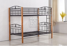 P1025A Metal & Timber King Single Bunk Bed Beech