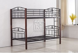 P1025B Metal & Timber Single Bunk Bed Oak