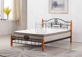 P001A Metal & Timber Bed Frame Beech