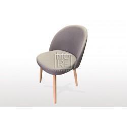 DB Luxury Fabric Round Dining Chair Grey