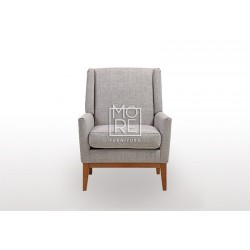New Castle Fabric Accent Chair Light Grey