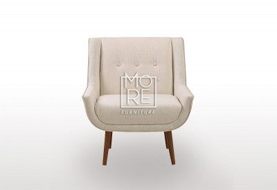 New York Fabric Accent Chair Off White