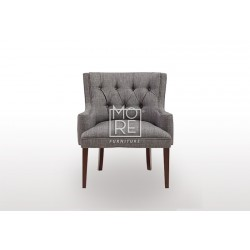 New Zealand Fabric Accent Chair Charcoal