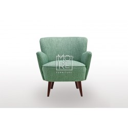 New Jersey Fabric Tub Chair Green-Grey