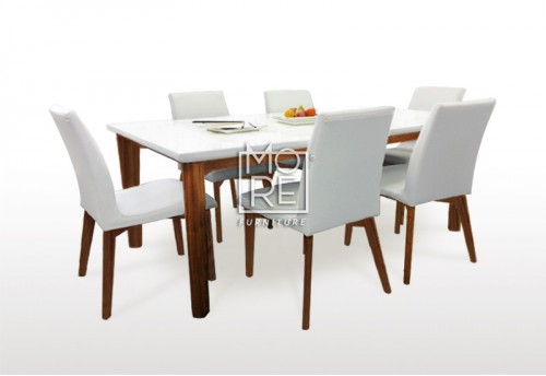 Oslo 7Pcs High Gloss Dining Suite