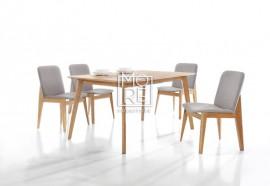 Harris 5Pcs Extension Timber Dining Suite