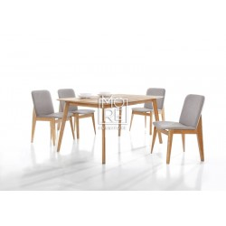 Harris 5Pce Extension Timber Dining Suite