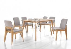 Harris 7Pcs Extension Timber Dining Suite