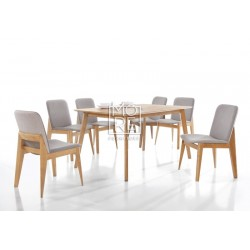 Harris 7Pce Extension Timber Dining Suite