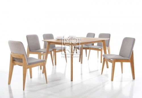 Harris 7Pcs Extension Timber Dining Suite