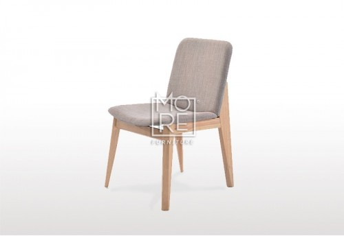 Harris Timber Fabric Dining Chair Grey