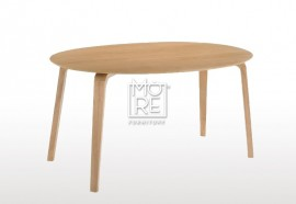 Betty Rubber Wood Oval Dining Table