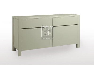 Cotton High Gloss Buffet Light Grey