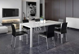 Crystal Cotton 7Pcs High Gloss Dining Suite