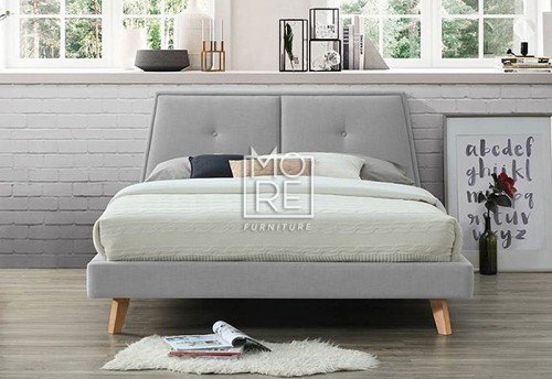 Freya Premium Fabric Bed Frame Light Grey