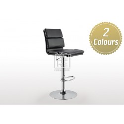 Gemini PU Leather Bar Stool Black & White