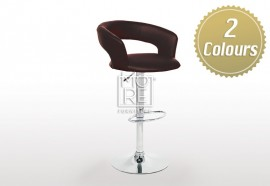 Jupiter PU Leather Bar Stool Black & White