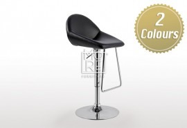Scorpio PU Leather Bar Stool Black & White