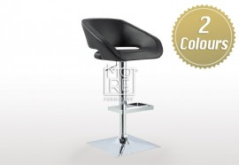 Oscar PU Leather Bar Stool Black & White