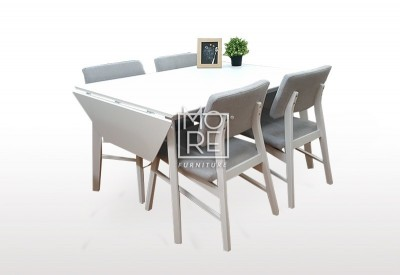 Alaska 5Pce Timber Dropside Extension Dining Suite