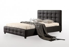 DB Luxury PU Leather Bed Frame Black