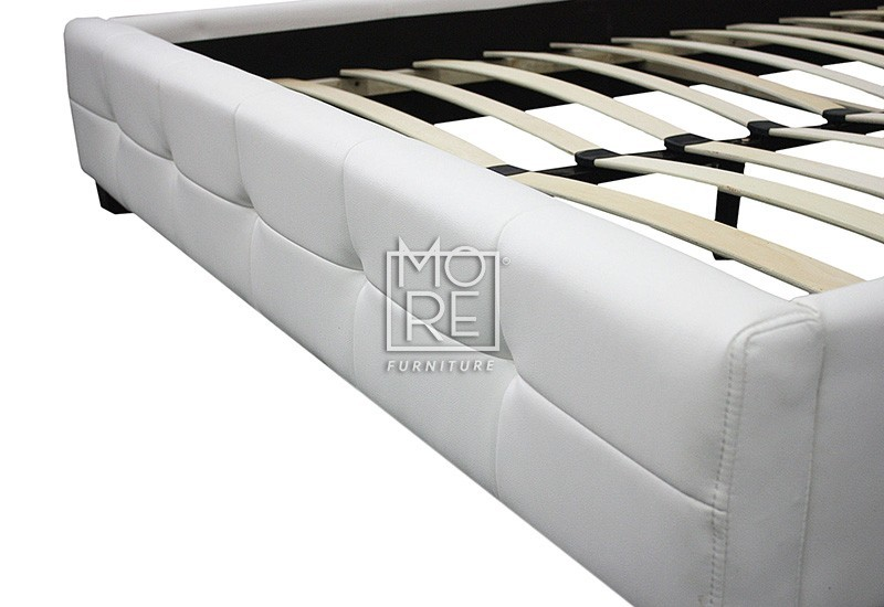 Double Beds Amp Bases Db Luxury Pu Leather Bed Frame White