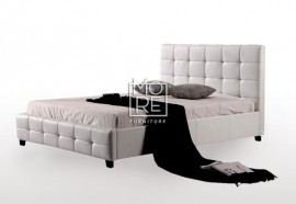 DB Luxury PU Leather Bed Frame White
